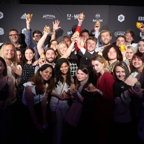 Students at D&AD awards ceremony